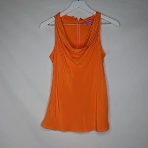 Banana Republic x Trina Turk Orange Silk Cowl Neck